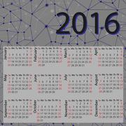 Simple 2016 Calendar / 2016 calendar design / 2016 calendar vertical - week s - stock illustration