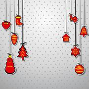 creative christmas background vector - stock illustration
