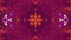 Kaleidoscope abstract rust colored Stock Footage