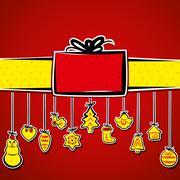 Creative merry christmas background vector Stock Illustration