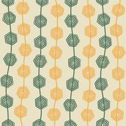 creative retro hexagonal swirl design background vector - stock illustration