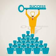 Educate success key concept vector Stock Illustration