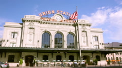 Renovated Union Station in Downtown Denver, Colorado. Stock Footage