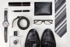 Men accessories. - stock photo