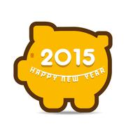 Happy new year greeting 2015 stock vector - stock illustration