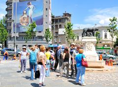 Tourists in Bucharest Stock Photos