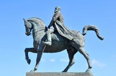 Equestrian statue Stock Photos