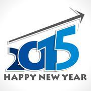 Happy new year greeting 2015 stock vector Stock Illustration