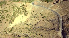 Aerial view of the road in mountains - stock footage