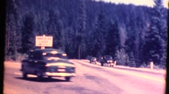 Timberline Lodge, cars driving 1951 - stock footage