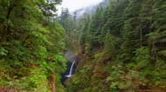 Time Lapse of Metlako Falls in Eagle Creek along Columbia River Gorge in OR 4k Stock Footage