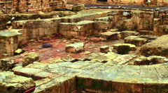 Video of Palace of Agrippa shot in Israel. Stock Footage