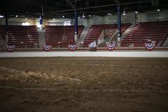 Arena for horse exhibition Stock Photos