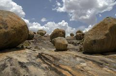 Rocks of Lajedo de Pai Mateus region - stock photo