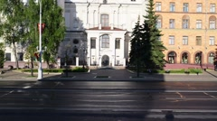 Catholic church of Blessed Virgin Mary, Minsk, Belarus Stock Footage