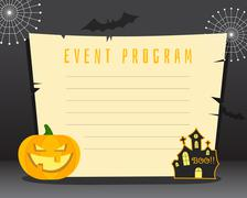 Halloween background with place for text. Happy halloween flyer card, poster - stock illustration