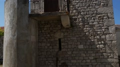 Tower in city Nin, Croatia Stock Footage