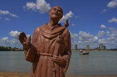 Sculpture on the margin of the São Francisco river - stock photo