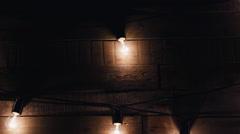 Garlands of lights. Weding decor Stock Footage