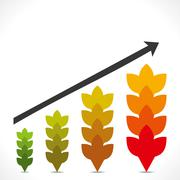 Agriculture business growth graph concept vector Stock Illustration