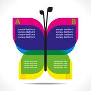 Colorful butterfly info-graphics concept vector Piirros