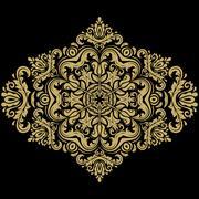Damask  Orient Pattern - stock illustration