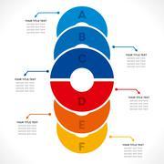 Creative cricle info-graphics design concept vector Stock Illustration