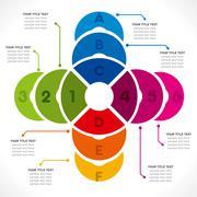 creative cricle info-graphics design concept vector - stock illustration