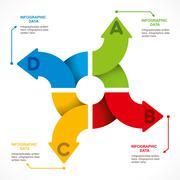 Creative arrow info-graphics design concept vector Stock Illustration