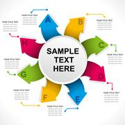 creative arrow info-graphics design concept vector - stock illustration