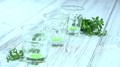 Pouring in Woodruff Liqueur (not loopable) Stock Footage