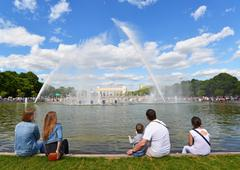 MOSCOW, RUSSIA - 26.06.2015. Gorky Park -Central Park of Culture and Rest. Pe - stock photo