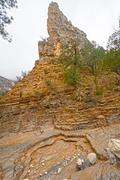 Rock Pinnacle in a Remote Canyon Stock Photos