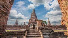 wat Chaiwatthanaram Temple beautiful - stock footage