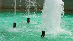 The stream of water in the town fountain Stock Footage