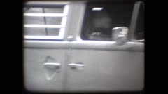 SUPER8 - GERMANY - Berlin - old Volkswagen combi passing by - stock footage