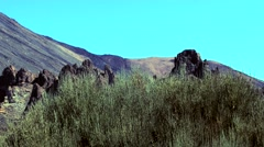 Teide view in the mountains Stock Footage