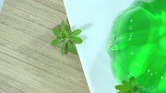 Woodruff Jelly Dessert (not loopable) Stock Footage