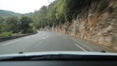 Leaving the town of Vence in the South of France. Rural road. Stock Footage