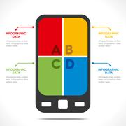 Creative mobile info-graphics design concept vector Piirros
