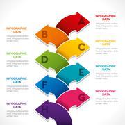 creative colorful arrow info-graphics design concept - stock illustration