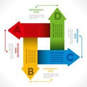 creative info-graphics or design brochure concept vector - stock illustration