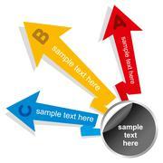 Creative info-graphics or design brochure concept vector Stock Illustration