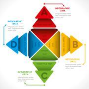 Creative arrow or info-graphics design concept vector Piirros
