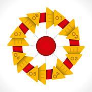 creative round rotate info-graphics design vector - stock illustration