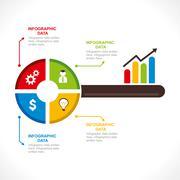 creative business info-graphics design concept - stock illustration