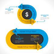 Creative business arrow info-graphics banner design concept Stock Illustration