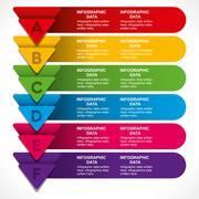 Stock Illustration of creative business arrow info-graphics banner design concept