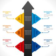 Creative business info-graphics design concept Stock Illustration