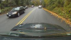 GoPro camera mounted to roof of car. Driving in Toronto. Stock Footage